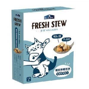 即食湯包 倍力 BLUEBAY 鮮境 FRESH STEW 羅勒鮮雞敦魚 低磷低鈉配方 (110gx2包) 寵物用品店推薦