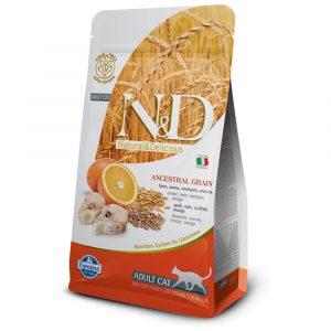 乾糧 法米納 Farmina N&D 天然低穀低敏成貓糧-魚肉 + 甜橙(成貓適用)1.5KG 寵物用品店推薦