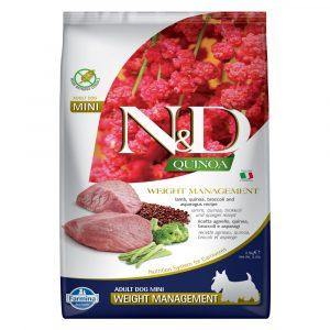 乾糧 法米納 Farmina N&D 天然藜麥無穀物成犬糧 - 羊肉(體重管理)(成犬適用)2.5KG 寵物用品店推薦