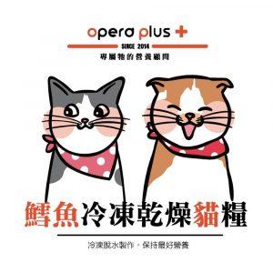 凍乾糧 歐寶 OPERO 鱈魚冷凍乾燥貓糧 350G 寵物用品店推薦