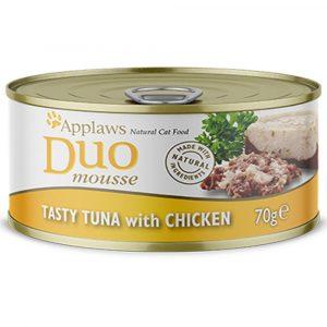 罐頭食品 愛普士 APPLAWS 全天然雙層慕絲貓罐頭 – 紅肉吞拿魚 + 雞胸 70g 寵物用品店推薦