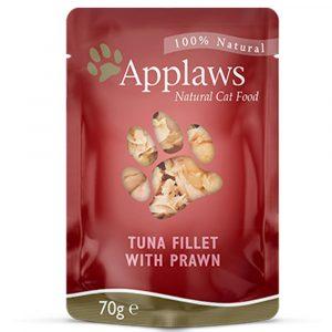 即食湯包 愛普士 APPLAWS 全天然貓湯包 – 吞拿魚 + 太平洋白蝦 70g 寵物用品店推薦