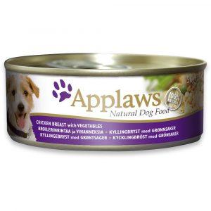 狗用糧食 愛普士 APPLAWS 全天然狗罐頭 – 雞柳 + 蔬菜 156g 寵物用品店推薦