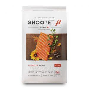 乾糧 SNOOPET β 鮮三文魚、磷蝦油、蔬菜 (淚痕及皮膚護理有機配方) 犬糧 1KG 寵物用品店推薦
