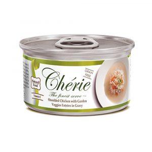 罐頭食品 Cherie 天然黃鰭吞拿魚、蔬菜 貓罐頭 寵物用品店推薦