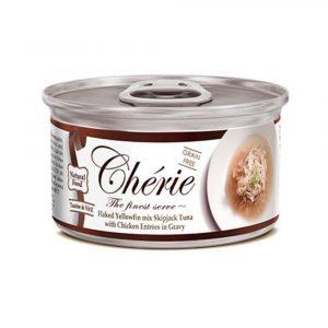罐頭食品 Cherie 天然黃鰭吞拿魚、雞肉 貓罐頭 寵物用品店推薦
