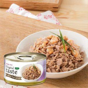 罐頭食品 Original taste #77系列 天然高含量吞拿魚、蝦肉 70g 寵物用品店推薦
