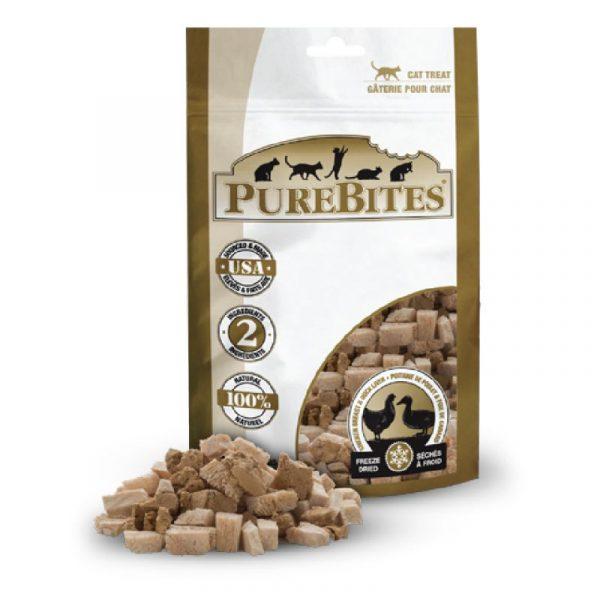 小食 PureBites 凍乾雞胸肉+鴨肝經濟裝 貓小食 32g 寵物用品店推薦