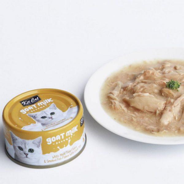 罐頭食品 Kit Cat 吞拿魚+煙燻魚 羊奶貓罐頭 70g 寵物用品店推薦