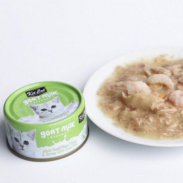 罐頭食品 Kit Cat 吞拿魚+蝦 羊奶貓罐頭 70g 寵物用品店推薦