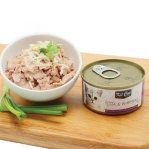 罐頭食品 Kit Cat 無穀物 雞肉+銀魚Toppers+Taurine 貓罐頭 80g 寵物用品店推薦