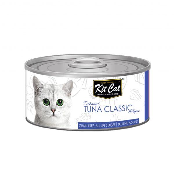 罐頭食品 Kit Cat 無穀物 吞拿魚+Taurine 貓罐頭 80g 寵物用品店推薦