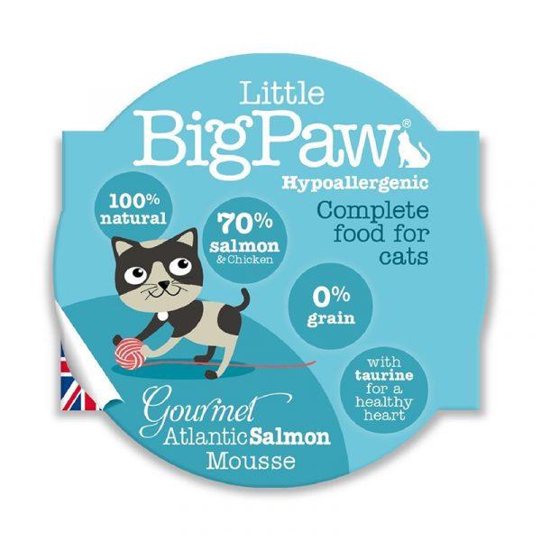 即食湯包 Little Big Paw 大西洋三文魚貓餐盒Mousse 85g 寵物用品店推薦