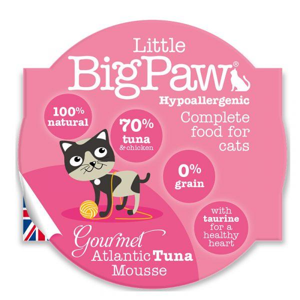 即食湯包 Little Big Paw 大西洋吞拿魚貓餐盒Mousse 85g 寵物用品店推薦