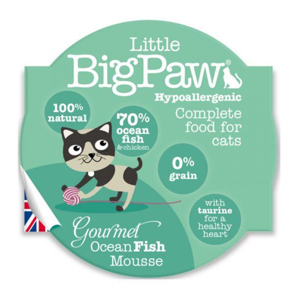 即食湯包 Little Big Paw 大西洋海洋魚貓餐盒Mousse 85g 寵物用品店推薦