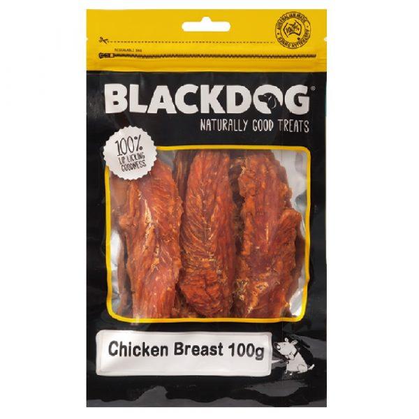 小食 BLACK DOG 天然澳洲雞胸塊 100g 寵物用品店推薦