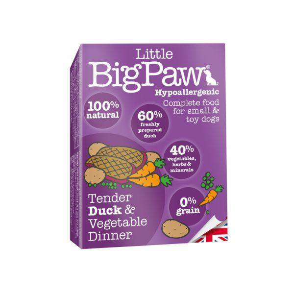 即食湯包 Little Big Paw 嫩鴨+蔬菜狗餐盒 寵物用品店推薦