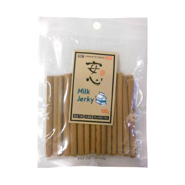 小食 Asuku Ansim Milk Jerky 安心高鈣牛奶條 100g 寵物用品店推薦