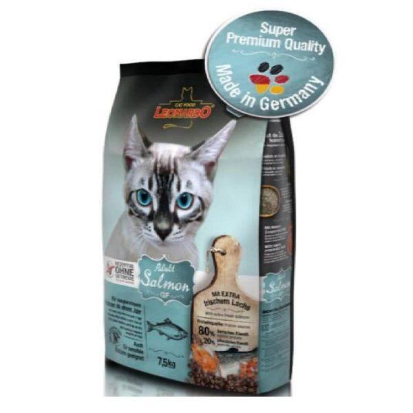 乾糧 Leonardo Natural GF Adult Cat Food (Salmon) 無穀物天然成貓糧(三文魚配方) 寵物用品店推薦