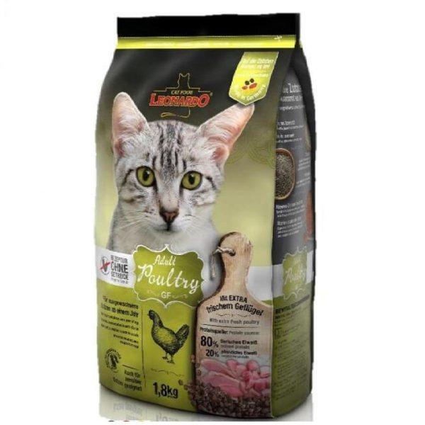 乾糧 Leonardo Natural GF Adult Cat Food (Poultry) 無穀物天然成貓糧(家禽配方-雞肉+火雞+鴨肉) 寵物用品店推薦