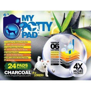 尿墊 My Potty Pad 殿堂級活性炭寵物尿墊 60cm x 90cm (24片) 寵物用品店推薦