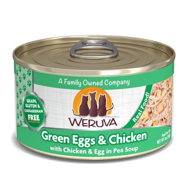 罐頭食品 WeRuVa 經典雞肉系列 無骨及去皮雞胸肉、雞蛋、豌豆 貓罐頭 寵物用品店推薦