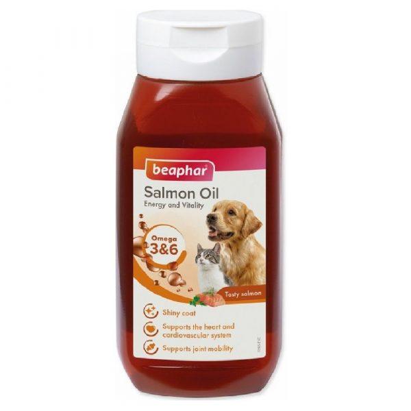 狗用產品 Beaphar 貓犬用三文魚油 SAMLON OIL 430ML 寵物用品店推薦