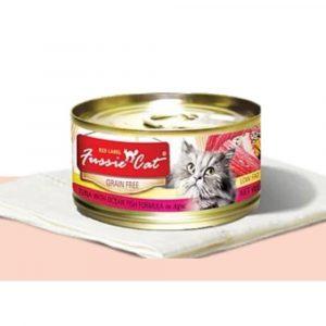 罐頭食品 高竇貓 Fussie Cat Premium Red Label Cat Canned (Tuna with Ocean Fish) 紅鑽貓罐頭(吞拿魚+海魚)80g 寵物用品店推薦