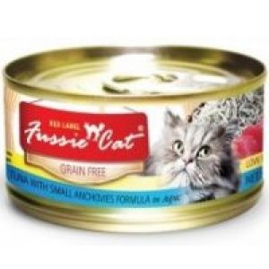 罐頭食品 高竇貓 Fussie Cat Premium Red Label Cat Canned (Tuna with Small Anchovies) 紅鑽貓罐頭(吞拿魚+白魚)80g 寵物用品店推薦