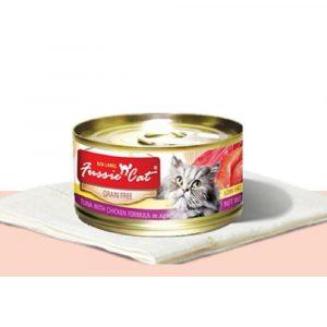 罐頭食品 高竇貓 Fussie Cat Premium Red Label Cat Canned (Tuna with Chicken) 紅鑽貓罐頭(吞拿魚+雞肉)80g 寵物用品店推薦