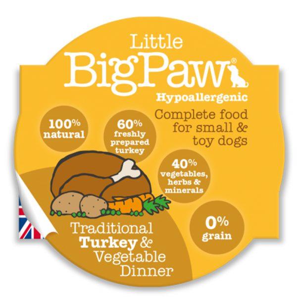 即食湯包 Little Big Paw 蒸煮火雞+蔬菜狗餐盒 寵物用品店推薦