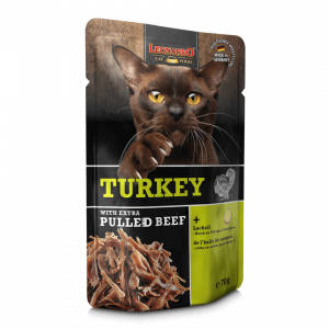 即食湯包 Leonardo Wet Cat Food (Turkey with Extra Pulled Beef) 貓濕包(火雞肉+牛肉絲)70g 寵物用品店推薦