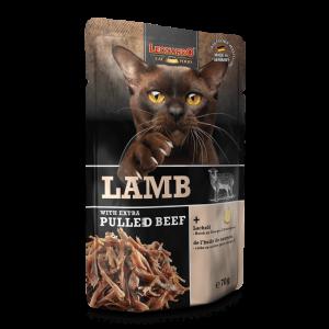 即食湯包 Leonardo Wet Cat Food (Lamb with Extra Pulled Beef) 貓濕包(羊肉+牛肉絲)70g 寵物用品店推薦