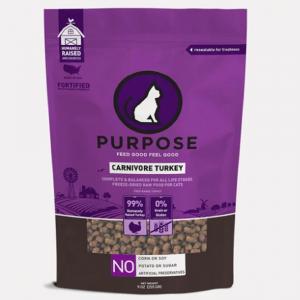 凍乾糧 Purpose 凍乾脫水生肉 貓主糧 (火雞肉) 9oz 寵物用品店推薦
