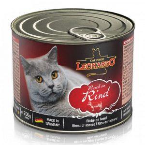 罐頭食品 Leonardo Natural Cat Canned (Beef) 天然貓罐頭(牛肉) 寵物用品店推薦