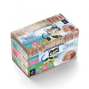 罐頭食品 Little Big Paw 慕絲貓罐頭 – 海洋之選(三文吞拿海魚) 85g x 6罐 寵物用品店推薦