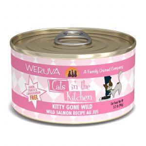 罐頭食品 WeRuVa 廚房系列 野生三文魚、美味肉汁 貓罐頭 寵物用品店推薦