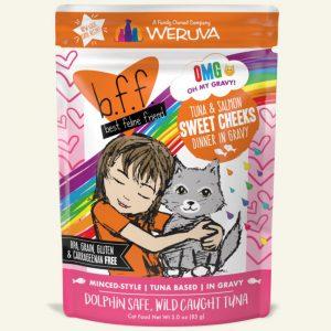 即食湯包 Weruva B.F.F. 喵友系列 野生吞拿魚、三文魚 袋裝貓糧 (橙袋) 85g 寵物用品店推薦