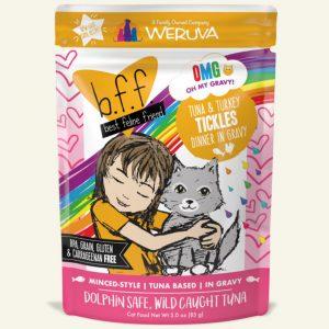 即食湯包 Weruva B.F.F. 喵友系列 野生吞拿魚、火雞肉 袋裝貓糧 (黃袋) 85g 寵物用品店推薦