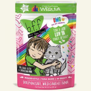 即食湯包 Weruva B.F.F. 喵友系列 野生吞拿魚、羊肉 袋裝貓糧 (綠袋) 85g 寵物用品店推薦