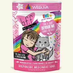 即食湯包 Weruva B.F.F. 喵友系列 野生吞拿魚、鴨肉 袋裝貓糧 (粉紅袋) 85g 寵物用品店推薦