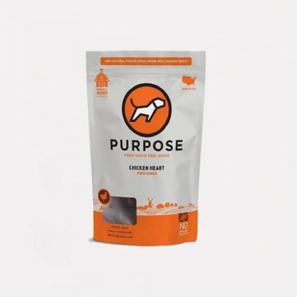 小食 Purpose 凍乾脫水 貓狗小食 (雞心) 3oz 寵物用品店推薦