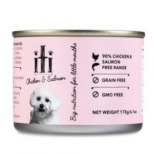 狗用糧食 ITI 紐西蘭天然無穀物(雞+三文魚) 狗罐頭 175G 寵物用品店推薦