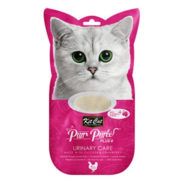 小食 Kit Cat Purr Puree Plus 尿道護理 養生雞肉醬 60g 寵物用品店推薦