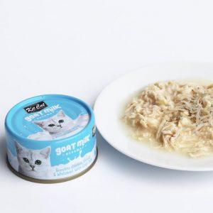 罐頭食品 Kit Cat 雞肉+銀魚 羊奶貓罐頭 70g 寵物用品店推薦