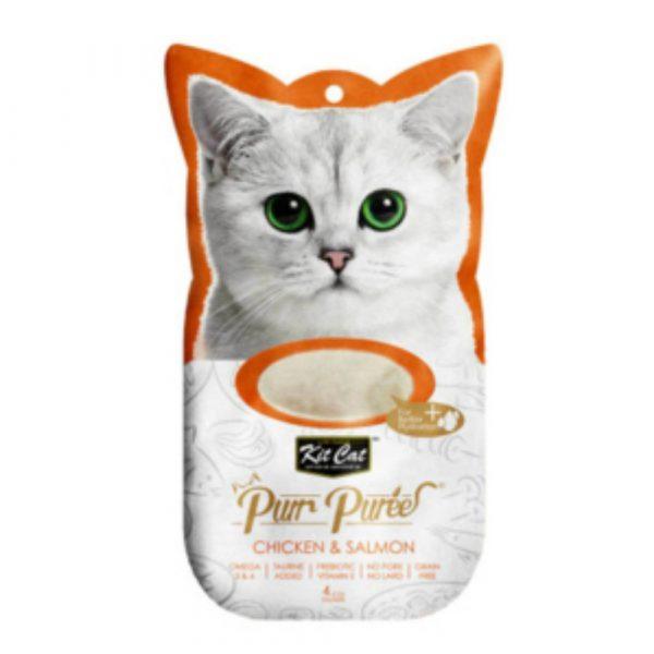 小食 Kit Cat Purr Puree 雞肉+三文魚 養生肉醬 60g 寵物用品店推薦