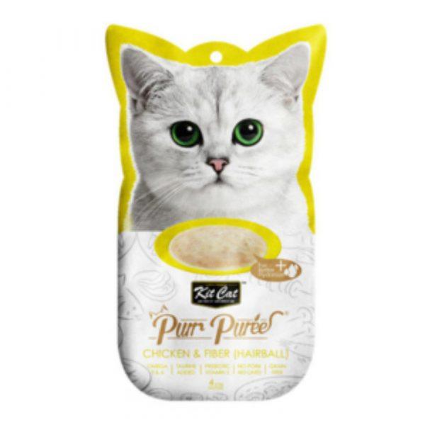 小食 Kit Cat Purr Puree 吞拿魚+去毛球 養生肉醬 60g 寵物用品店推薦
