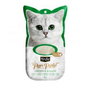小食 Kit Cat Purr Puree 雞肉+扇貝 養生肉醬 60g 寵物用品店推薦