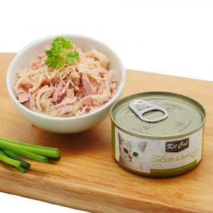罐頭食品 Kit Cat 無穀物 雞肉+海鮮Toppers+Taurine 貓罐頭 80g 寵物用品店推薦
