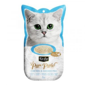 小食 Kit Cat Purr Puree 雞肉+煙燻魚 養生肉醬 60g 寵物用品店推薦